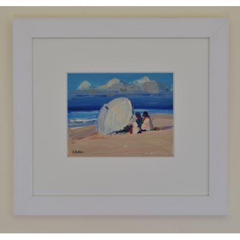 Beach Scene with Parasol