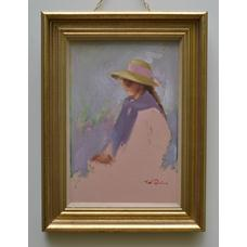 Woman Wearing a Hat; SOLD